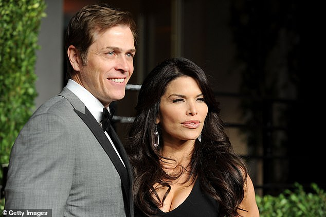 In happier times: Patrick's estranged wife Lauren Sanchez (right) left him for Amazon billionaire Jeff Bezos earlier this year after their affair was exposed in the tabloids. Pictured in West Hollywood on February 27, 2011