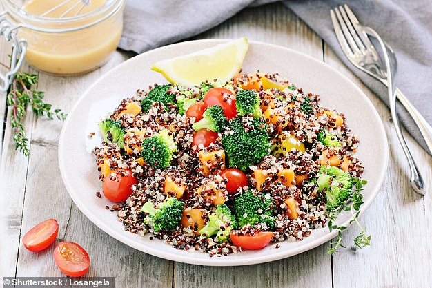 The quinoa salad has plenty of nutritious vegetables which contribute to fibre intake, Mr Hobson said. (Stock photo)