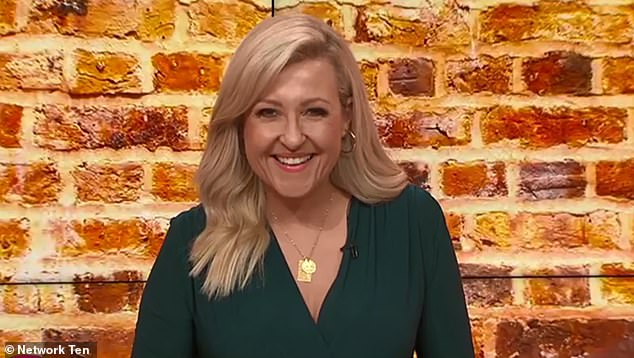 Up for the role? Jamie told told Studio 10 co-host Angela Bishop (pictured) he absolutely loved MasterChef and would definitely consider a judging role if asked