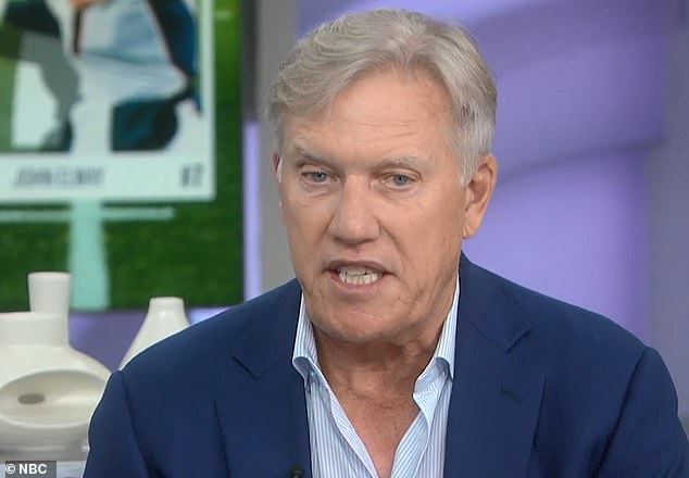 John Elway discussed his diagnosis of Dupuytren's contracture, a hand deformity that causes tissue to knot under the skin of the palm, in 2004, on the TODAY show (pictured)