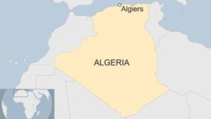 A map shows the location of Algiers