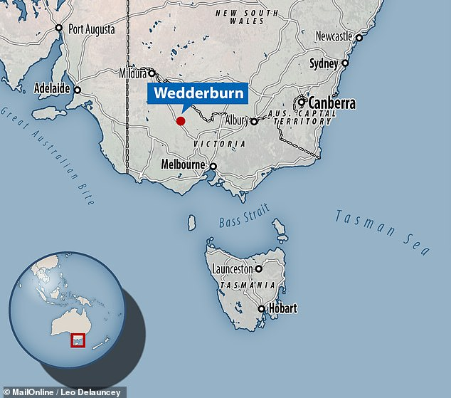 The fist-sized metallic meteorite was named after Wedderburn in Victoria, Australia, where it was discovered 4.5 kilometres north-east of the town in 1951