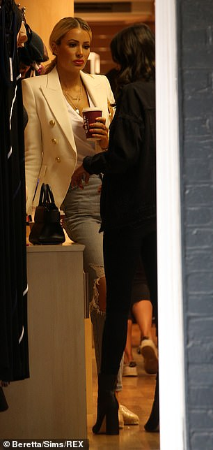 Racy: Olivia and Clelia were both seen filming in a lingerie shop