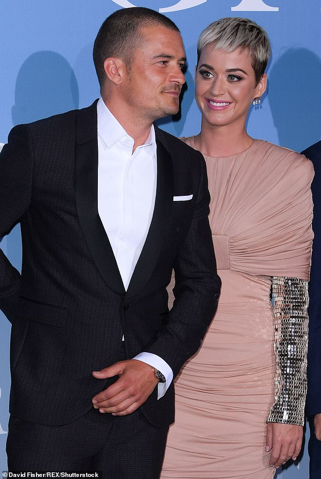 Sparks flying: Katy and Orlandohave been dating on and off since January 2016 after they were seen flirting with one another at the Golden Globe Awards in Beverly Hills