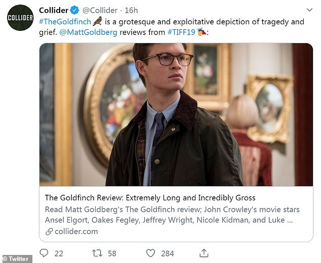 Picking up on the hate: Collider called the movie  'gross and exploitative'