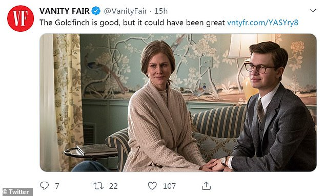A few kind words: Vanity  Fair commented it's 'good but it could have been great'