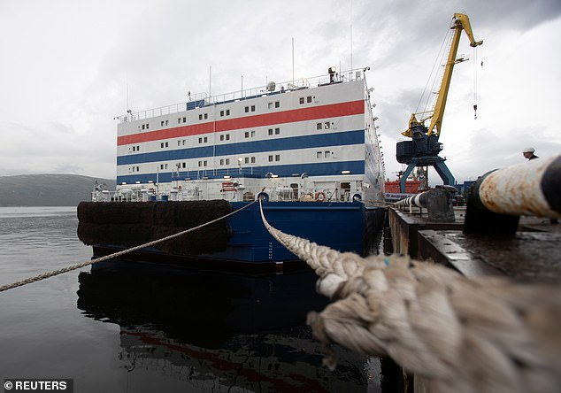 Critics have said the power plant is like a 'nuclear titanic' and fear another nuclear disaster similar to the recent deaths at Nyonoska. They fear that the Lomonosov could be 'additionally vulnerable to storms.' Greenpeace have protested the use of the reactor ship, saying that the pristine Arctic could be contaminated by an explosion