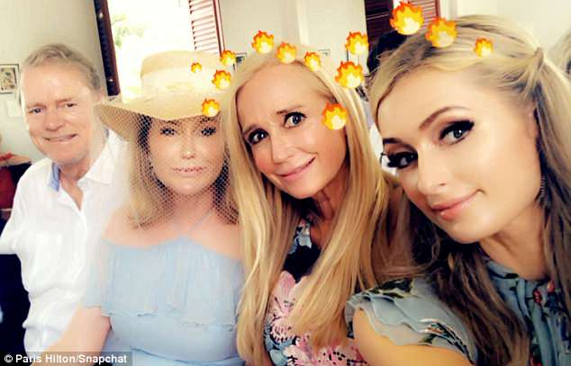 Family affair: Paris' aunt Kim Richards looked radiant and youthful