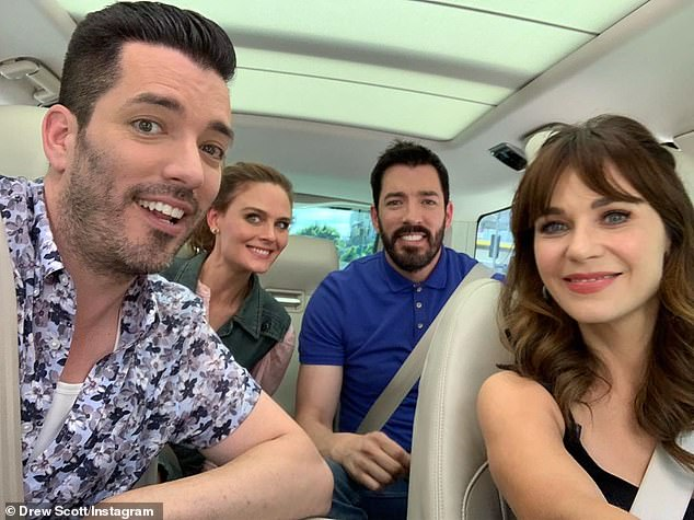 'It was definitely a pleasant surprise!' The skinny jeans-loving realtor (L) reportedly began dating the 39-year-old New Girl actress (R) after taping Apple TV's Carpool Karaoke: The Series in Los Angeles on August 5