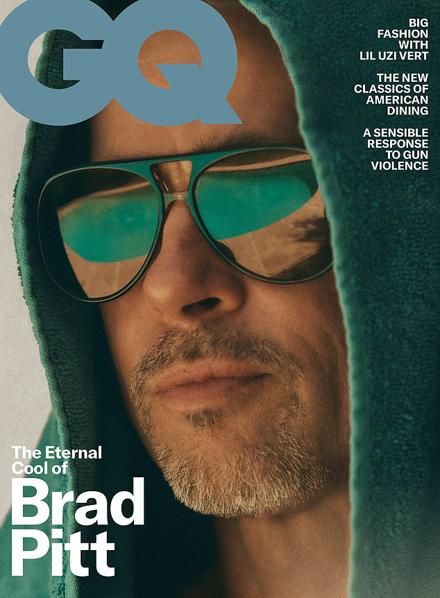 Something to say: The star appears on the cover of the October issues of GQ magazine and during the interview, he talks about 'getting f***ing older'