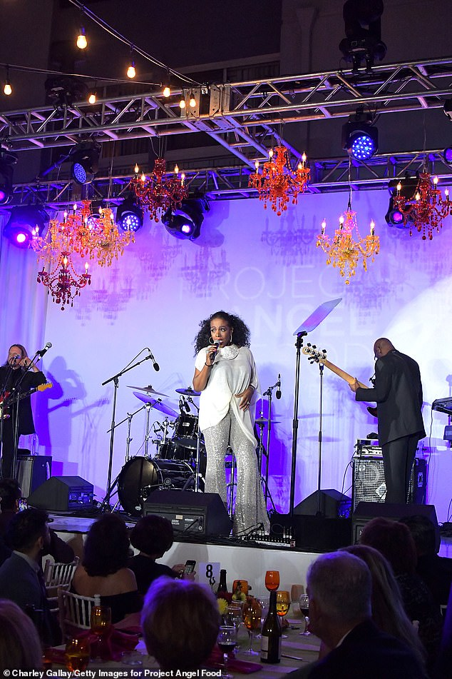 Dreamgirl: Other performers of the evening included Tony winner Sheryl Lee Ralph wearing silver sparkly bell bottoms