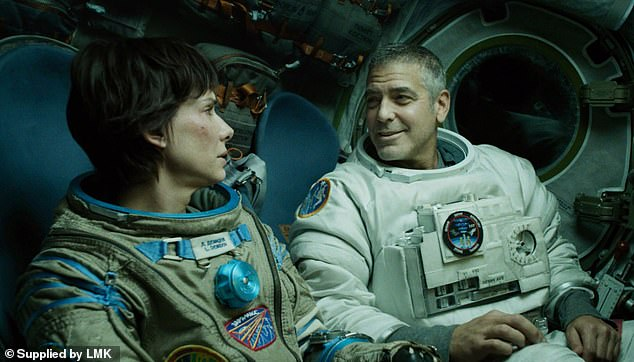 Competitive:During his visit, the ex-husband of Angelina Jolie took the time for fun as he asked a real-life astronaut currently in orbit who was more believable: him as Roy McBride in Ad Astra or his close friend George Clooney as Matt Kowalsky in 2013's Gravity