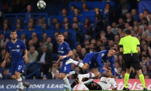 Mason Mount of Chelsea is fouled by Francis Coquelin of Valencia