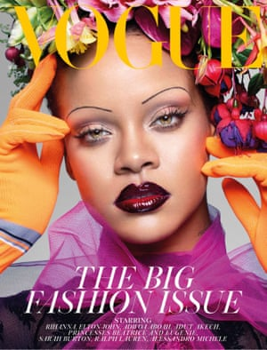 Rihanna on the cover of the September 2018 issue of British Vogue