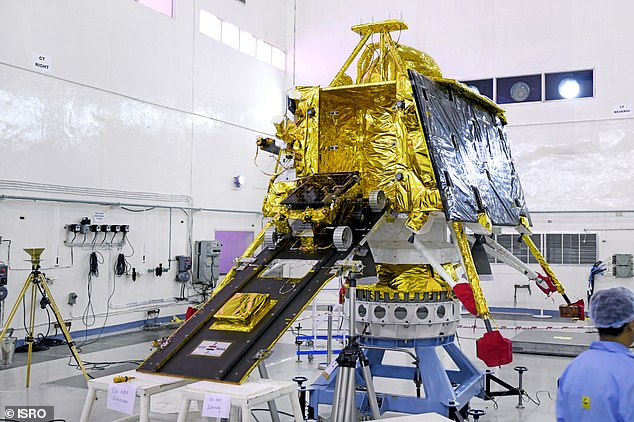 Chandrayan-2 (pictured) has successfully released its rover, Vikram, from the orbiter and sent it towards our natural satellite. Vikram will land on September 7 androbotic vehicle Pragyan will then roll out and spend one lunar day carrying out scientific experiments on the surface