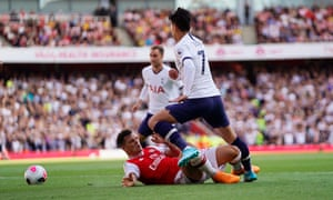 Granit Xhaka's 'ludicrously rash' challenge on Son Heung-min, which led to Spurs's second goal.