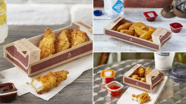 Greggs evening meal deal Hot 2 go counter options