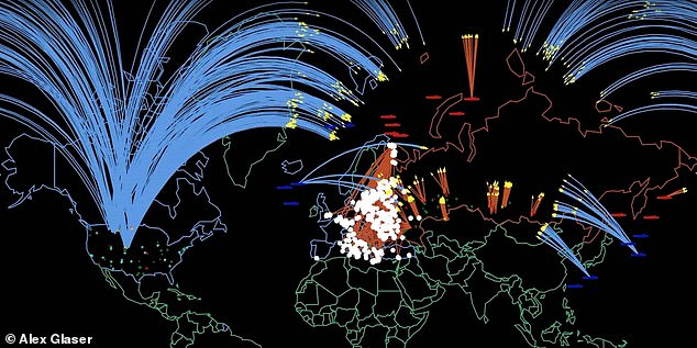 Researchers have developed a terrifying simulation that shows how an escalating nuclear war between the United States/NATO and Russia would play out