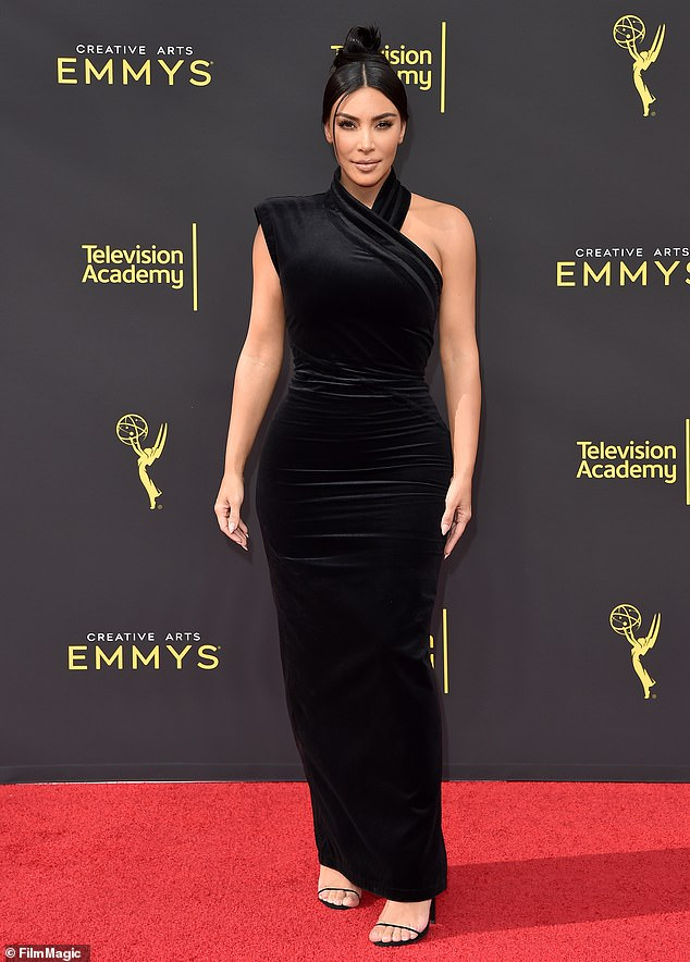 Taking the stage: Kim Kardashian will present an Emmy award alongside sisters Kylie and Kendall during the Primetime ceremony next Sunday
