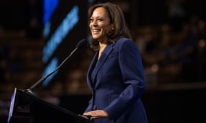 Senator Kamala Harris speaks during the New Hampshire Democratic Party Convention on September 7, 2019 in Manchester, New Hampshire