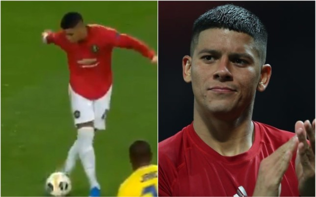 Marcus Rojo attempted a rabona during Manchester United's win over Astana