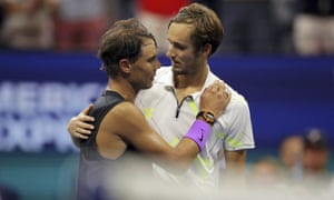 Daniil Medvedev congratulates his opponent after the match