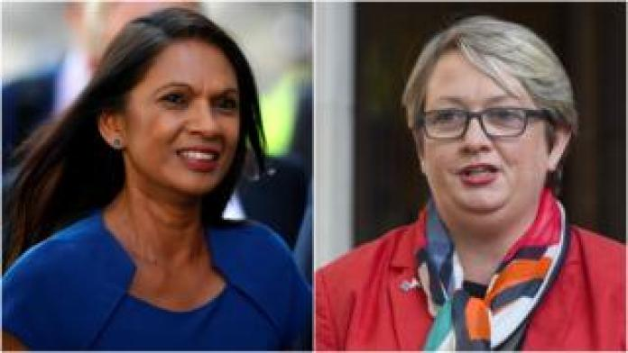 Gina Miller and Joanna Cherry