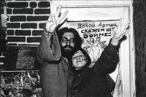"""Down with the army, say no to war"" … Soviet Hippies."