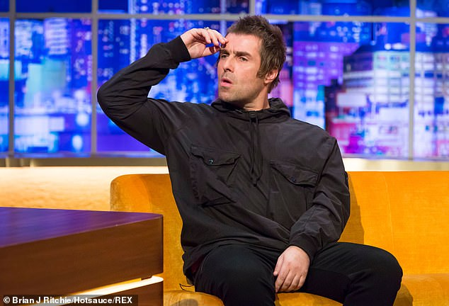 Looking back in anger: Liam Gallagher branded brother Noel a 'bully' on Twitter after an explosive interview emerged of his estranged sibling saying their feud 'isn't f*****g' banter