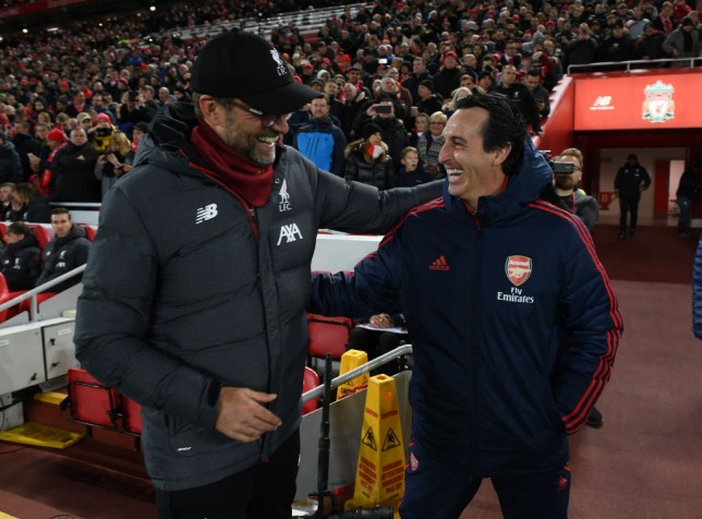 Jurgen Klopp and Unai Emery
