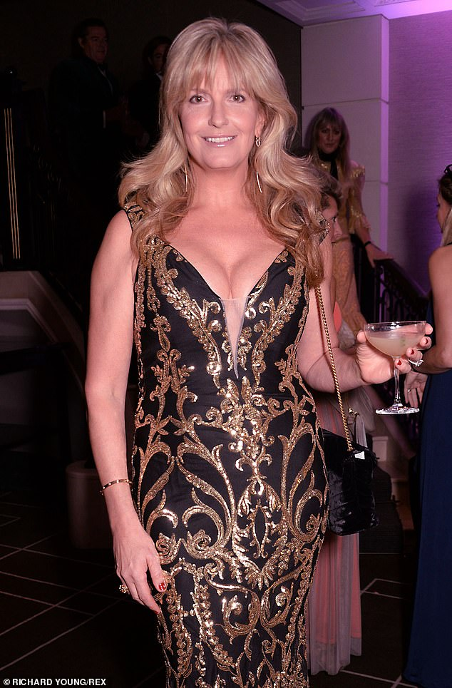 Amazing: The model looked stunning in the intricate gown as she arrived for the charity event organised by herself and husband Rod Stewart in aid of the Teenage Cancer Trust
