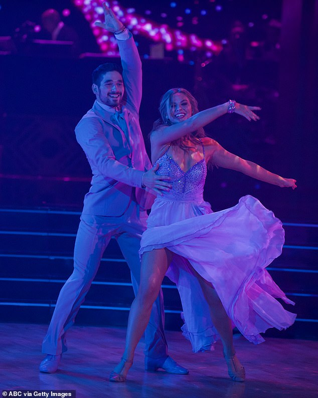 First dance: Alan and Hannah revisited their Viennese waltz