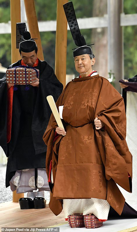 Naruhito was officially proclaimed Emperor of Japan on 22 October 2019