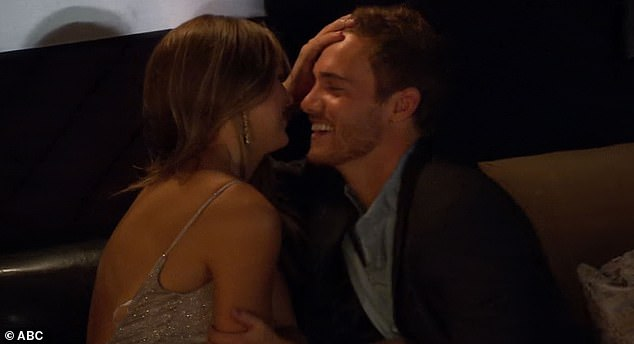 Surprise visit: The Bachelor star Peter Weber was surprised by Hannah in the preview and invited her to join the show