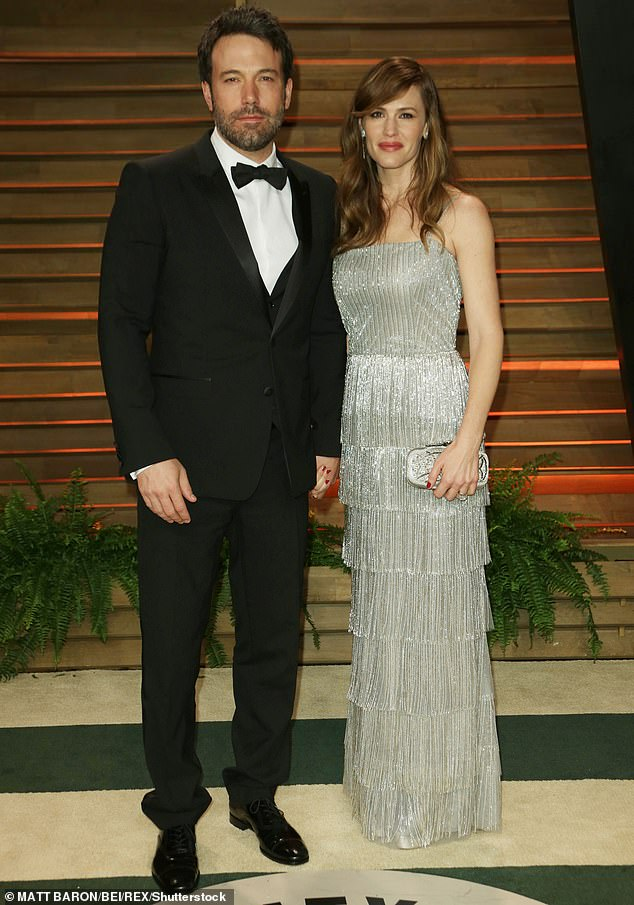 Children:The A-lister has daughters Violet, 13, and Seraphina, 10, then son Samuel, seven, with her ex-husband Ben Affleck (pictured together in2014)