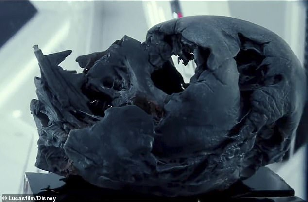 All that's left of another era: The mask has been in Kylo Ren's possession