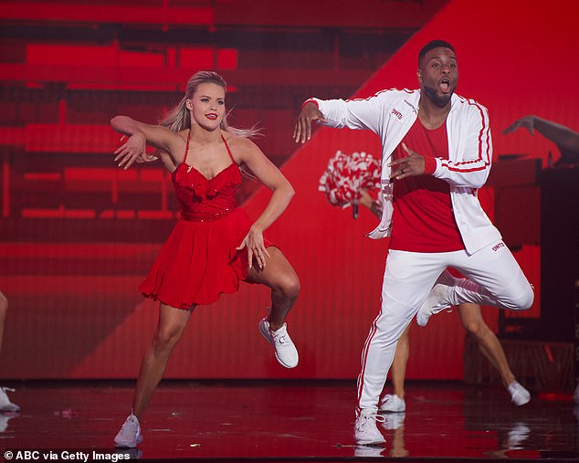 Great effort:Kel and Witney Carson, 26, also gave Hannah a run for her money