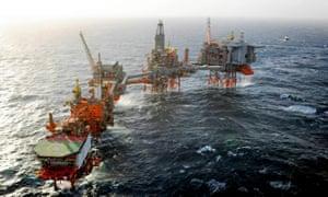 BP's Valhall platform in the Norwegian North Sea.