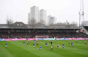 A gray day at Griffin Park.