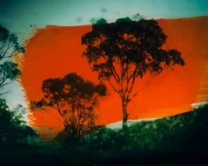Bathurst, NSW, Australia. Medium format with ink overlay