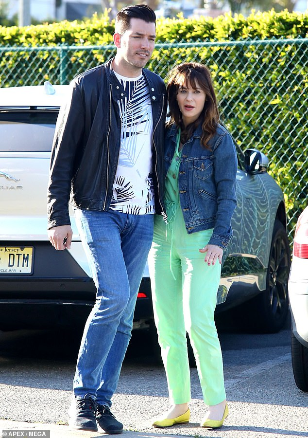 Precious time together: On Saturday, Zooey Deschanel, 40, enjoyed a weekend outing in Beverly Hills with boyfriend Jonathan Scott