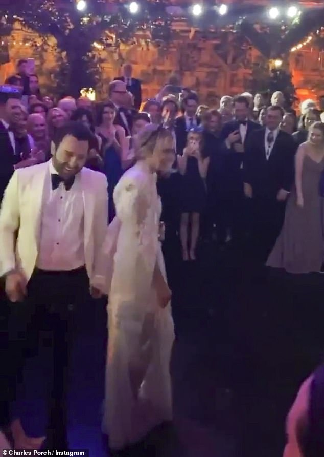 They're married! The two tied the knot on New Year's Eve in Nashville, Tennessee surrounded by their friends and family. They are pictured above arriving at their wedding reception