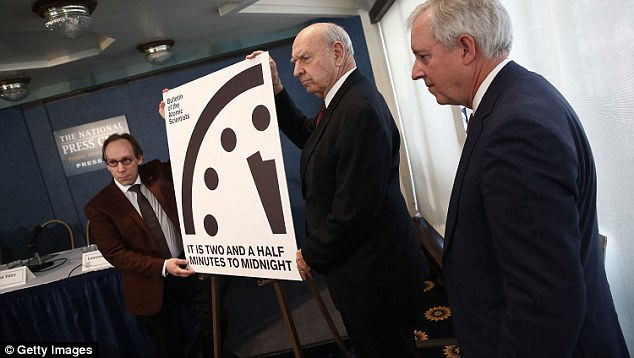 A Doomsday Clock symbolising the threat of apocalypse has moved closer to midnight, because of Donald Trump. Researchers who manage the clock announce the new 'time'.....