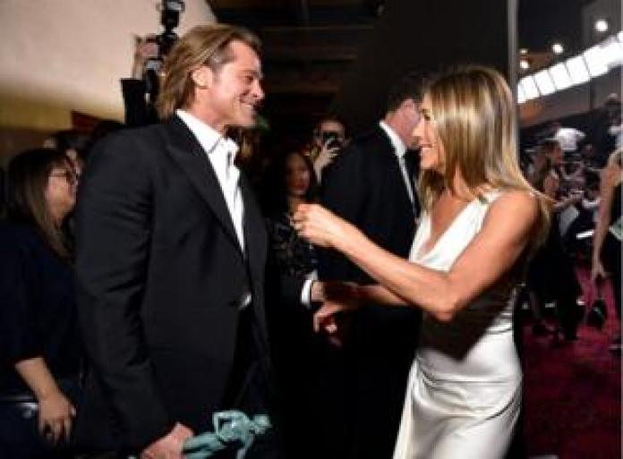 Jennifer Aniston with Brad Pitt