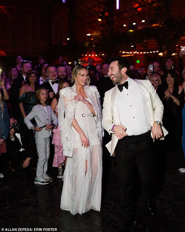 Whirlwind: The couple had been engaged for only four months before tying the knot in Nashville
