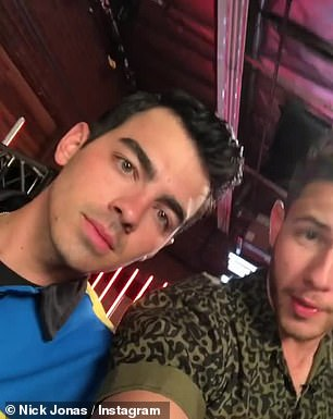 Surprise: Nick Jonas, who is a current coach on the voice, announced on his Instagram via video that brothers Kevin (left) and Joe would be assisting him on the show's current season