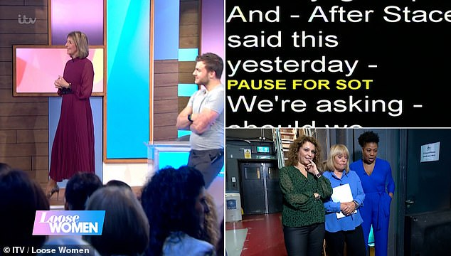 Blunder:While the TV presenter, 57, thought she was presenting a promotional segment for the show when the epic blunder occurred leaving her shouting 'what the f***!'