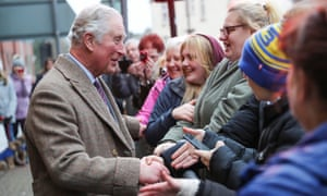 Prince Charles during a visit to Pontypridd, Wales