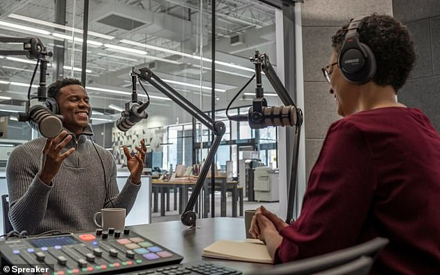 Seven Staples locations around the greater Boston area will let customers rent podcast recording studios for $60 an hour