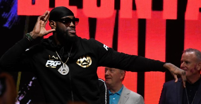 Deontay Wilder soaks in the boos at the Fury-Wilder weigh-in